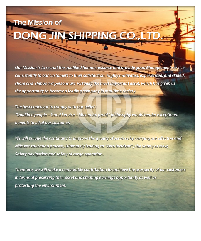 Mission Statement Dong Jin Shipping